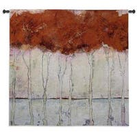 Fine Art Tapestries 'Treeline' Multicolored Cotton Wall Tapestry