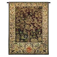 Fine Art Tapestries William Morris 'Tree Of Life' Umber Small Cotton Wall Tapestry