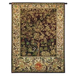 Fine Art Tapestries William Morris Tree Of Life Umber Small Cotton Wall Tapestry
