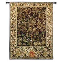 Fine Art Tapestries 'Tree Of Life Umber' Multicolor Cotton Large-size Wall Tapestry