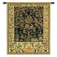 Fine Art Tapestries William Morris 'Tree Of Life' Midnight Blue Cotton Large Wall Tapestry