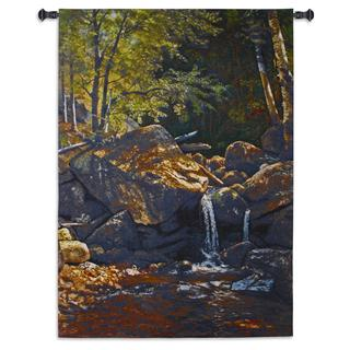 Fine Art Tapestries 'Thompson Cascade' Multicolor Cotton Wall Tapestry