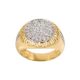 Regalia 14k White or Yellow Gold Men's 7/8ct TDW Diamond Round Cluster Ring, Size 10 (G-H, S1-S2)