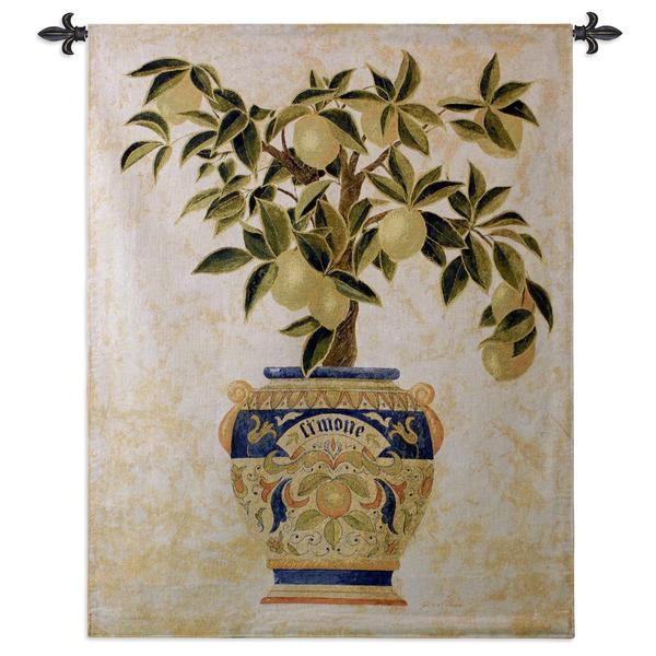 Fine Art Tapestries 'Italian Lemon Tree' Multicolored Cotton Wall Tapestry