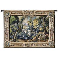 15th Century Landscape Wool and Cotton Wall Tapestry