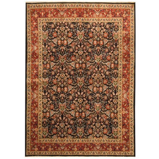 Herat Oriental Persian Hand-knotted Tribal Tabriz Wool Rug (5'9 x 8'2)