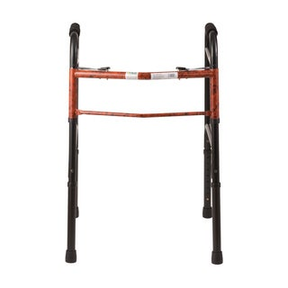 DMI Lightweight Folding Walker with Easy Two Button Release