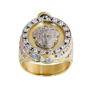 Regalia 14k White or Yellow Gold Men's 1 5/8ct TDW Diamond Ring, Size 10
