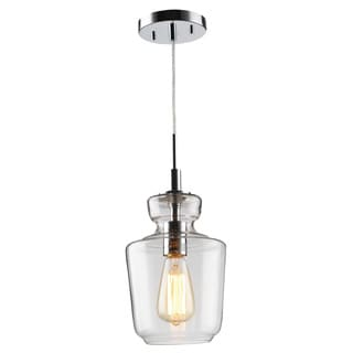 Woodbridge Lighting Sonya Clear Glass and Steel 1-light Mini Pendant Light