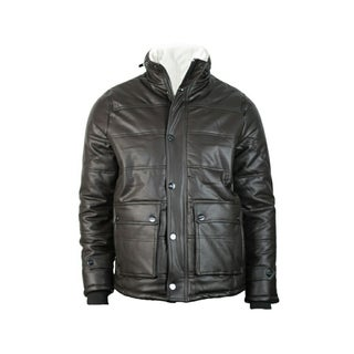 Men's Point Blanc Heavy Faux Leather Jacket