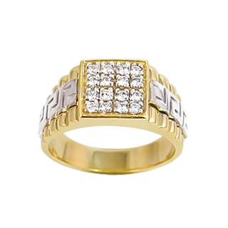 Regalia 14k White or Two-tone Gold Men's 3/8ct TDW Diamond Cluster Ring, Size 10 (G-H, S1-S2)