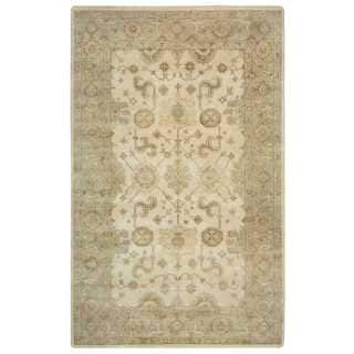 Rizzy Home Aquarius Ivory Wool Hand-knotted Accent Rug (2'6 x 8')