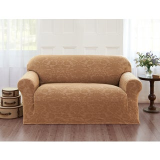 Sanctuary Velvet Damask Loveseat Slipcover