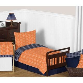 Sweet Jojo Designs 5-piece Orange and Navy Blue Arrow Toddler-size Comforter Set