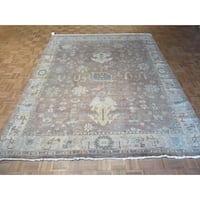 Oriental Lavender 100-percent Wool Fine Turkish Oushak Hand-knotted Rug (8'2 x 9'11)