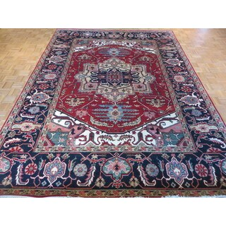 Serapi Heriz Rust Red Wool Hand-knotted Oriental Rug (9 x 11'11)