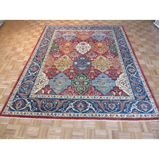 Oriental Multicolored Wool Super Kazk Hand-knotted Rug (7'9 x 9'9)