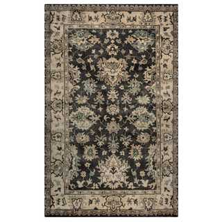 Rizzy Home Aquarius Hand-knotted Beige/Black Wool Accent Rug (2'6 x 8')