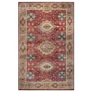 Rizzy Home Aquarius Red Wool Hand-knotted Accent Rug (2'6 x 8')