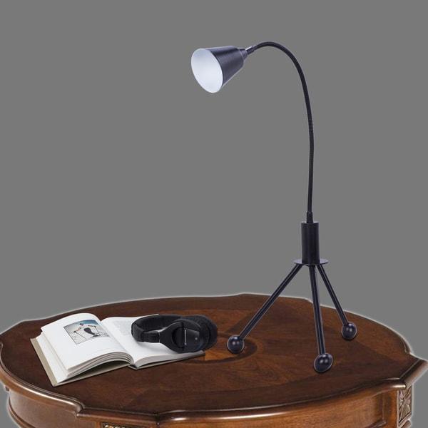 19.29 inch Black LED Task Lamp