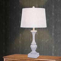 28 inch Resin Table Lamp In Cool Grey Finish
