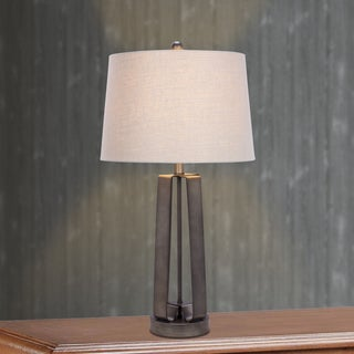 28 inch Dark Silver Metal Table Lamp