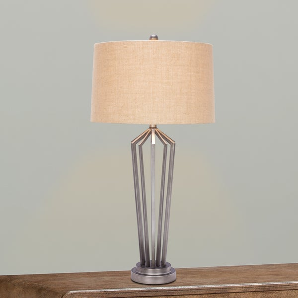 1531 34 inch Dark Silver Metal Table Lamp
