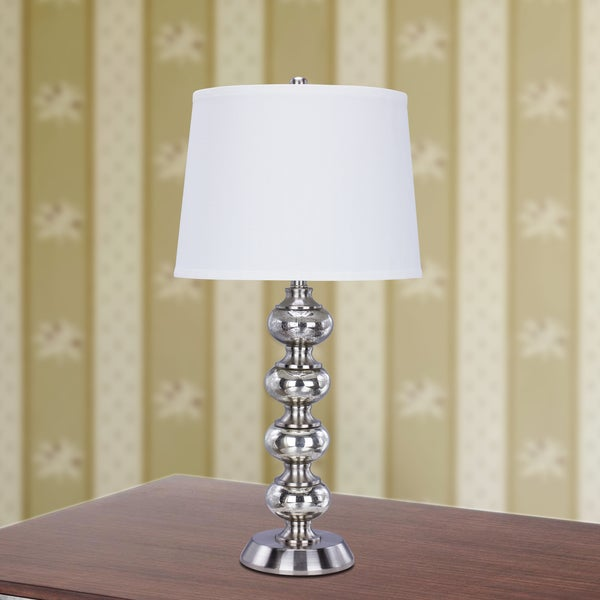 5128 30.5 inch Mercury Glass Table Lamp