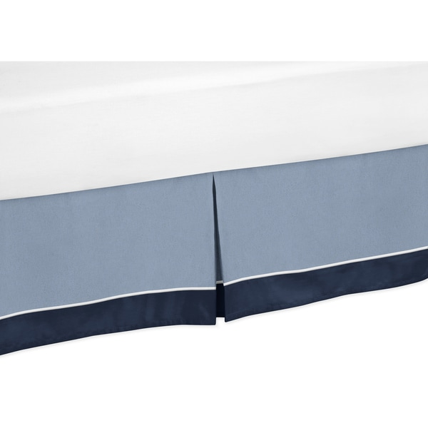 Ocean Blue Collection Toddler Bed Skirt