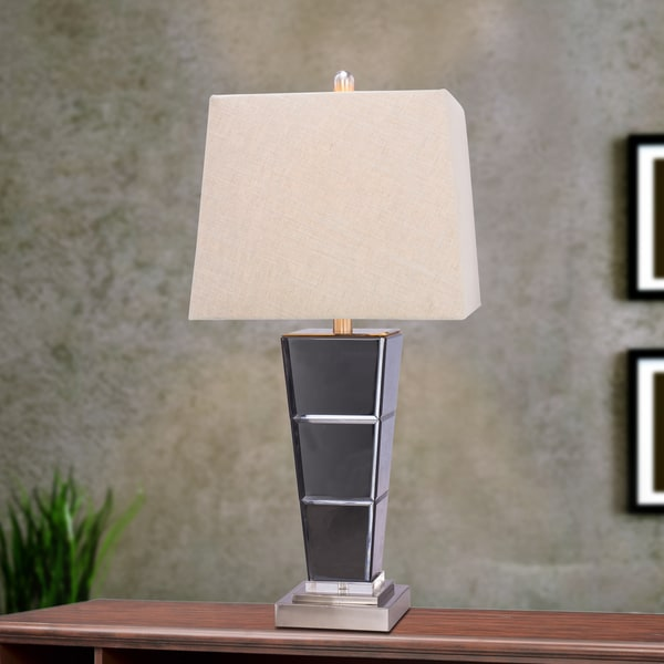 5127 27.75 inch Metal & Glass Table Lamp in Brushed Steel