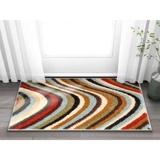 Well Woven Modern Waves Lines Natural Area Rug (2'3 x 3'11)