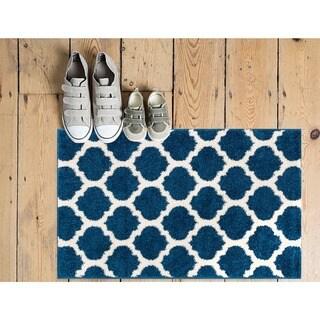 Well Woven Modern Trellis Lines Blue Area Rug (2'3 x 3'11)