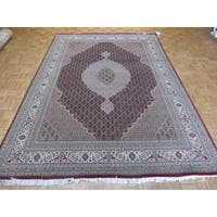 Red Mahi Tabriz Wool Silk Oriental Hand-knotted Rug (8'3 x 11'7)