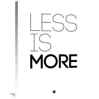 Naxart Studio 'Less Is More Poster White' Stretched Canvas Wall Art