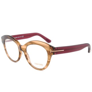tom ford tf5377 048 brownburgundy frame 52 mm lens eyeglass frames