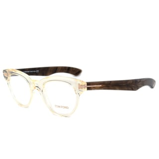 tom ford tf5378 026 crystaldark brown frame 47 mm lens eyeglass frames