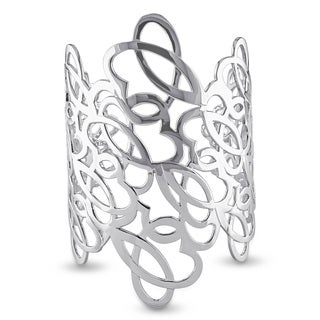 Miadora Abstract Bangle in Sterling Silver