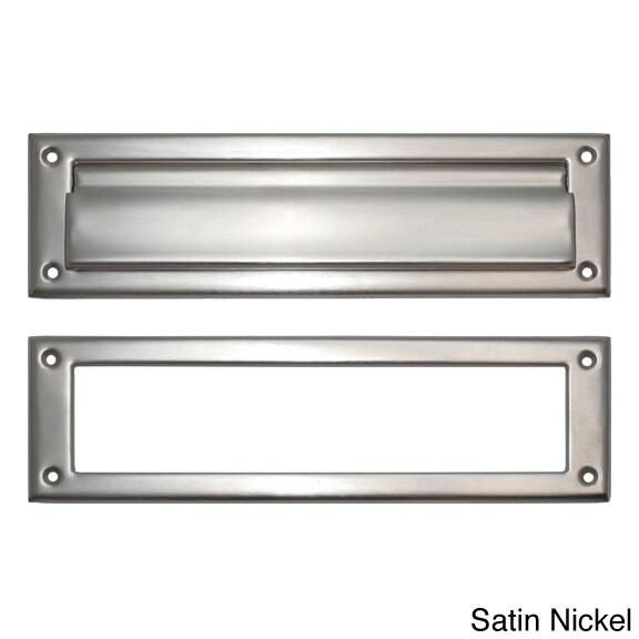 Brass Accents Brass 3 x 10-inch Mail Slot (Satin Nickel)
