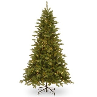 Claremont 7.5-foot Fir Hinged Tree with Clear Lights
