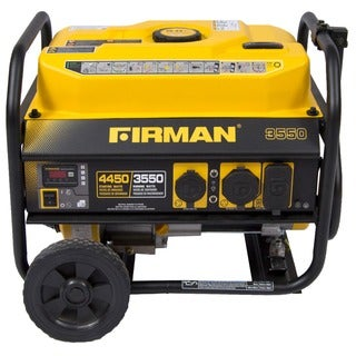 Firman Power Equipment P03501 Gas-powered Performance Series Portable Generator with Wheel Kit and Cover