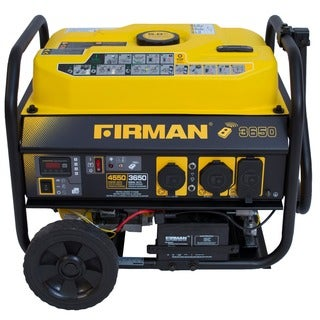 Firman P03608 4550/3650 Watt Gas Powered Portable Remote Starter Generator With Wheel Kit