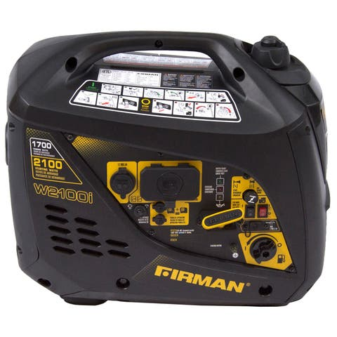 Firman Power Equipment Gas-powered 1,700/ 2,100-Watt Whisper Series Extended Run Time Portable Inverter