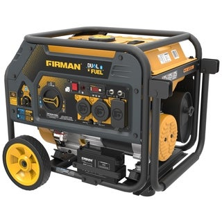 Firman Power Equipment H03651 Dual Fuel 4550/3650 Watt (Hybrid Series) Extended Run Time Generator with Electric Start