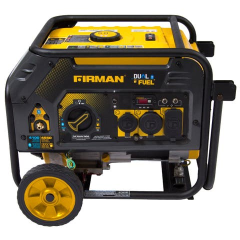 FIRMAN Power Equipment H03652 Dual Fuel 4550/3650 Watt (Hybrid Series) Extended Run Time Generator Recoil Start