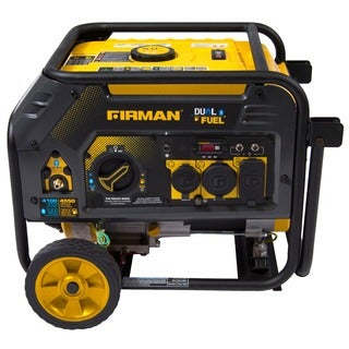 Firman Power Equipment H03652 Dual Fuel 4550/3650 Watt (Hybrid Series) Extended Run Time Generator with Recoil Start