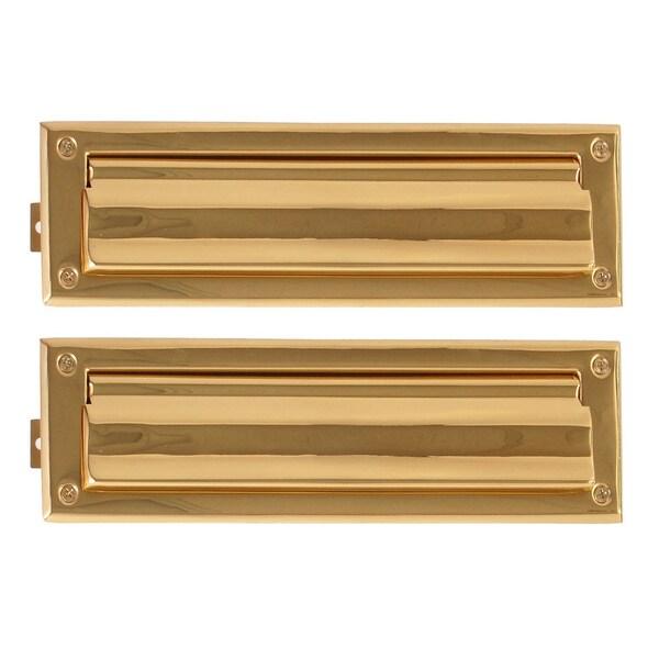 Brass 3-5/8 x 13-inch Mail Slot
