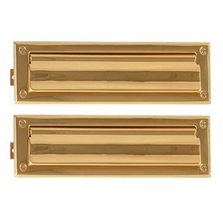 Brass 3-5/8 x 13-inch Mail Slot