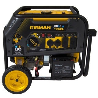 Firman Power Equipment H05751 Dual Fuel 7100/5700 Watt (Hybrid Series) Extended Run Time Generator with Electric Start