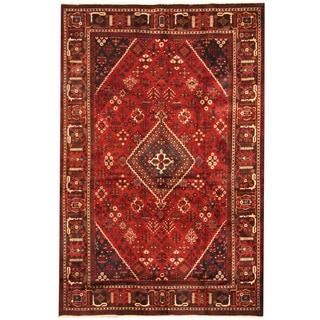 Herat Oriental Persian Hand-knotted Tribal Josheghan Wool Rug (7' x 10'7)