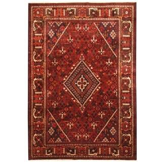 Herat Oriental Persian Hand-knotted Tribal Josheghan Wool Rug (7'1 x 10'5)